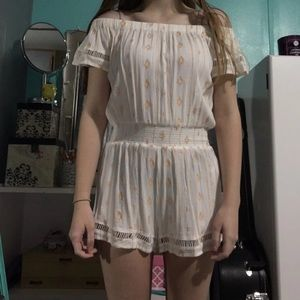 Beige romper from forever 21
